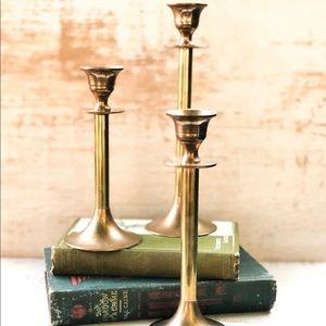 Vintage Brass Candlesticks Candle Holder